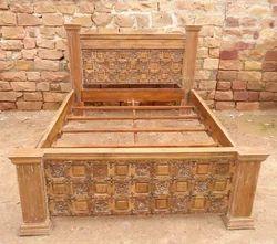 Rustic Old Teak Indian Bed