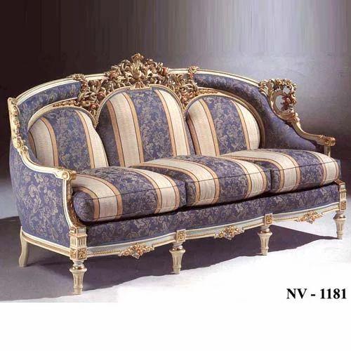 Wooden Handicrafts Three Seater Sofa Exporter From Roorkee