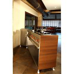 Metal Brown Counter Display Unit, Size (Inches): 600*600*1900 Mm