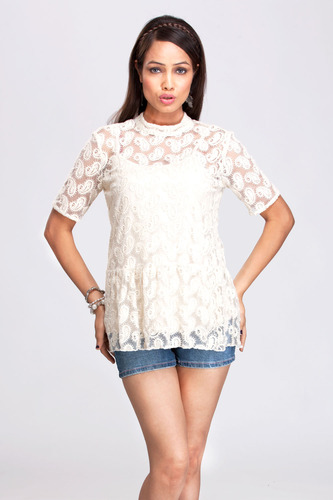 476f82eb254 Women Tops - Off White Top Exporter from Gurgaon