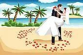 Tropical Beach Wedding Service