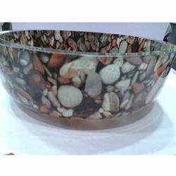 Toyo Designed Glass Bowls Flat Bottom Wash Basin