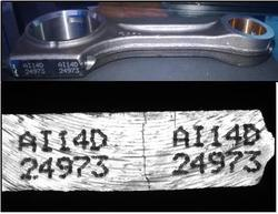 Character Scanning On Connecting Rod, Size: Noraml