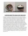 Fluidyne Knob Type Liquid Level Indicator