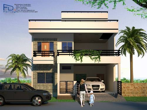 Front Elevation Design In Revit : Revit modelling and interior designing service provider