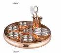 Copper Thali Set