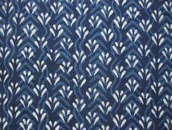 Blue Female Bagru Dabu Indigo Print Dress - Material, Gsm: 200-250