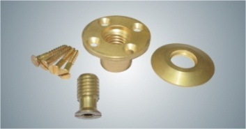 Brass Anchors for Pools with a Wood Deck
