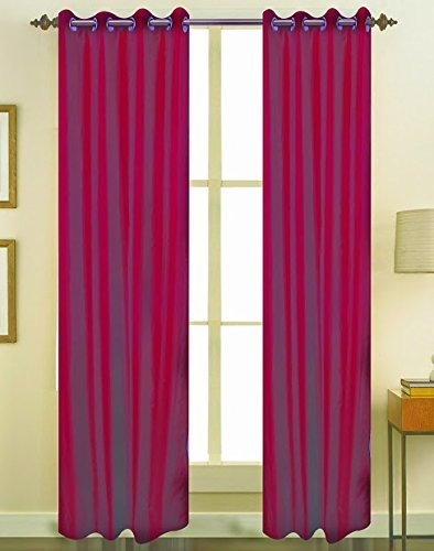 Eyelet Wine Red Curtain