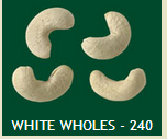 White Wholes - 240 Cashew Nuts