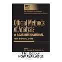 Official Methods of Analysis of AOAC International