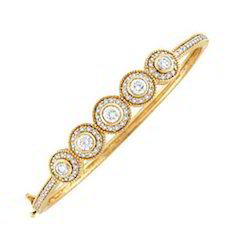 Gold Plated Diamond Bangle