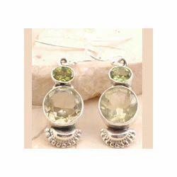 Peridot Earrings in 925