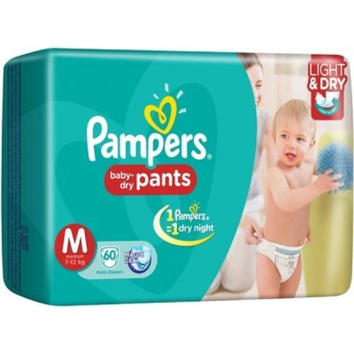 2 Pads in Each Pack Medium Pampers Pants Diaper M Size 7-12 kg