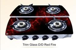 Four Burner Glass Top Gas Stove D/d Digital
