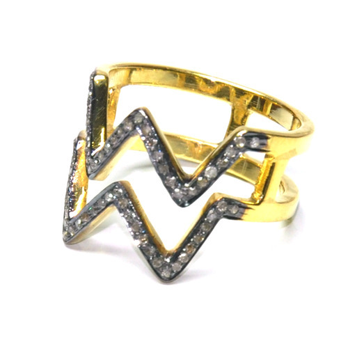 Zig Zag Jewellery: Zig Zag Gold Jewelry Rings Manufacturer From