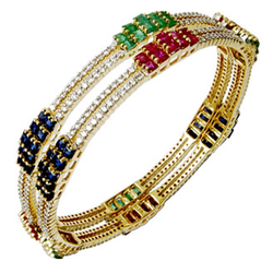 Gemstone Studded Bangles