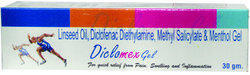 Pain Reliever Gel ( Diclofenac sodium 1%, Menthol 5%,linseed oil 3% Methyl salicylate 10% )