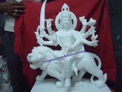 Makrana White Marble Durga Statue