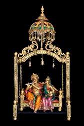 Small Radha Krishna Chatri Jhula