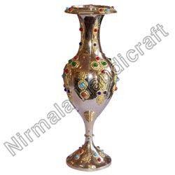 Brass Stone Flower Vase