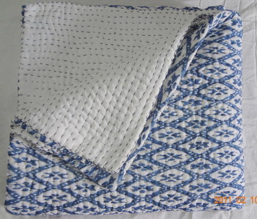 printed and quilted white sheets bedding quilt quilts block print pale grey hand animal blue bedspreads india