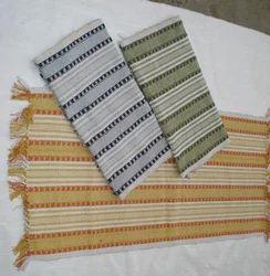 Rectangular Cotton Textured Rug, Size: 60x90 cm