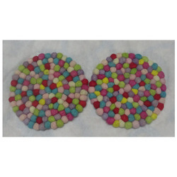 Wool Felt Ball Coaster