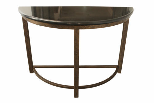 Peachy Half Round Metal Sofa Console Accent Table Ibusinesslaw Wood Chair Design Ideas Ibusinesslaworg