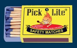 Carbonized Safety Matches