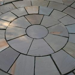 Grey Sandstone Circles Paving