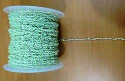 Chalcedony Green Silver Bead Chain