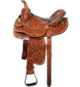 Ostrich Western Tooling Saddle