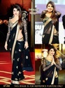 Bollywood Stylish Party Wear Black Saree