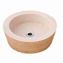 Round Stone Wash Basin