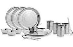 Steel Dinner Set 21 Pcs
