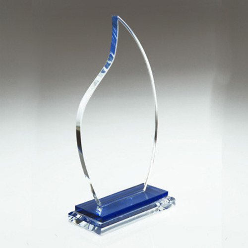 Blue Flame Crystal Trophy At Rs 150 Piece