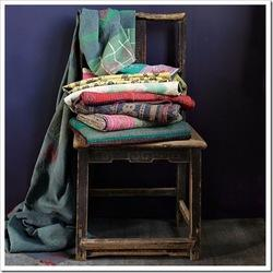 Reversible Handmade Kantha Throw