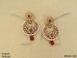 Round Moti Earrings