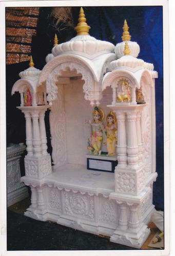 White Small Home Temple Rs 150000 Piece Gr Marble Mines