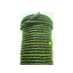Military Green Braided Leather Cords