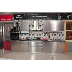 Stainless Steel Modular Kitchens L Shape Steel Kitchen