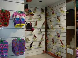 Slot Wall Footwear Display Fixture