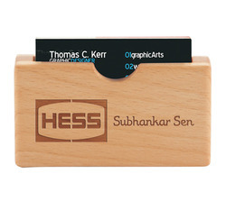 Wooden Visiting Card Holder