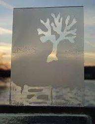 Sand Blasted Designer Glass