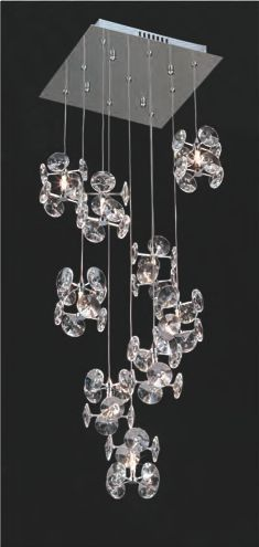 Crystal Chandelier Nico 20 Light Ceiling Chrome Crystal With Crystal Glass Sha Wholesale