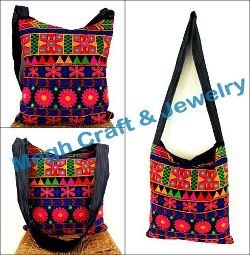 184e26b815 Banjara Kutch Embroidered Mirror Work Shoulder Bag ...