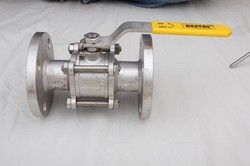 Stainless Steel Three Piece Flange End Ball Valve
