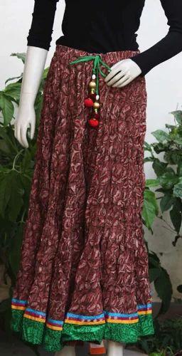 4992051f0 Ladies Long Skirt - Traditional Block Printed Cotton Skirt Manufacturer  from Jaipur