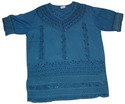 Ladies Rayon Blouse (Blue)